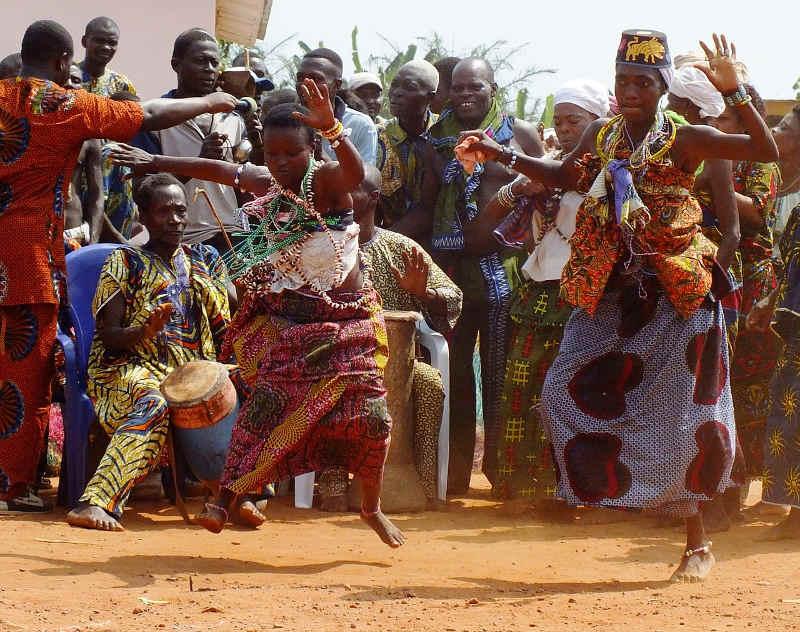 opętanie i taniec voodoo
