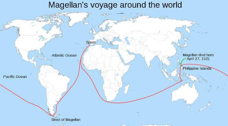 trasa wyprawy Magellana