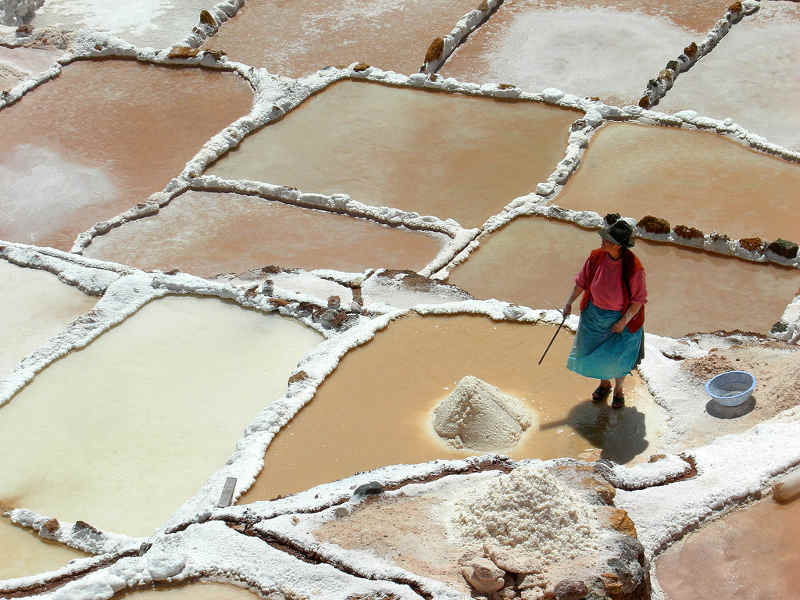 wydobycie soli, produkcja