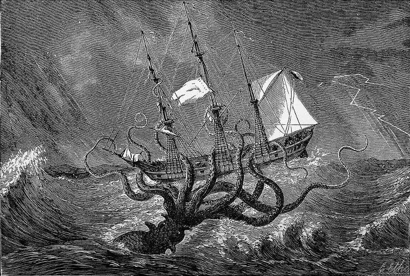 Mityczne stworzenia: kraken
