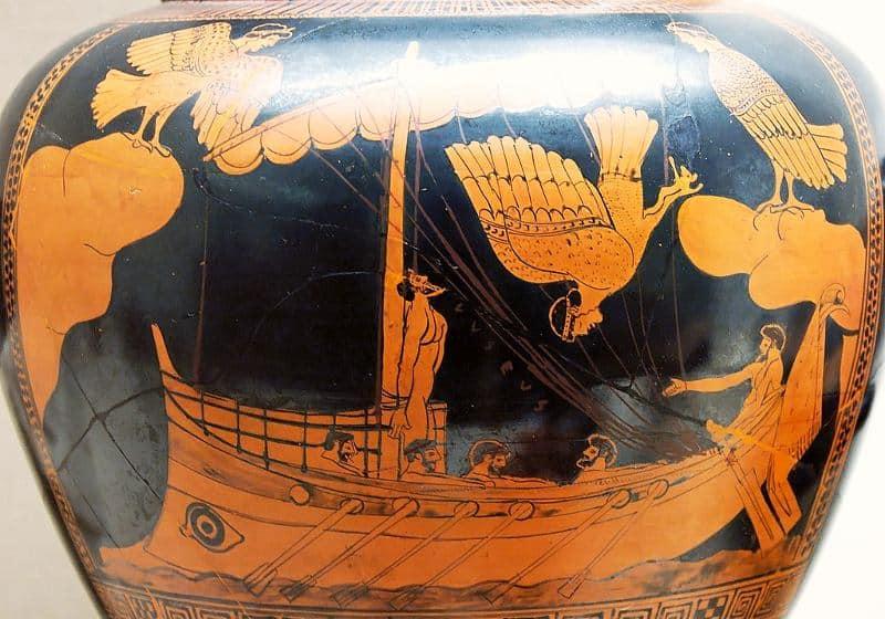 Mityczne stworzenia: Odyseusz i syreny