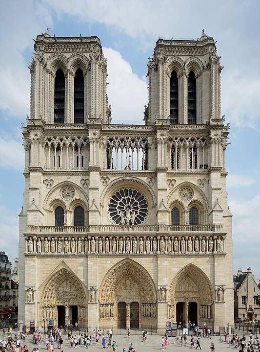 style architektoniczne: gotyk. Notre dame