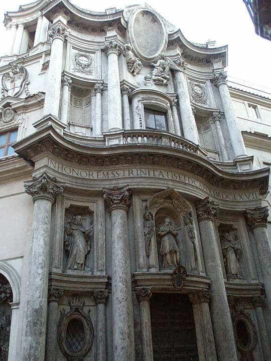Barokowa fasada kościoła San Carlo alle Quattro Fontane