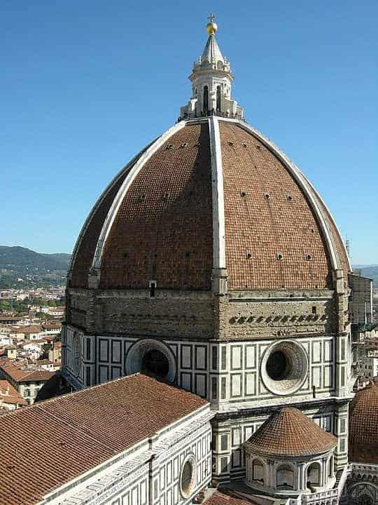 Style architektoniczne: renesans. Kopuła tatedey we Florencji.