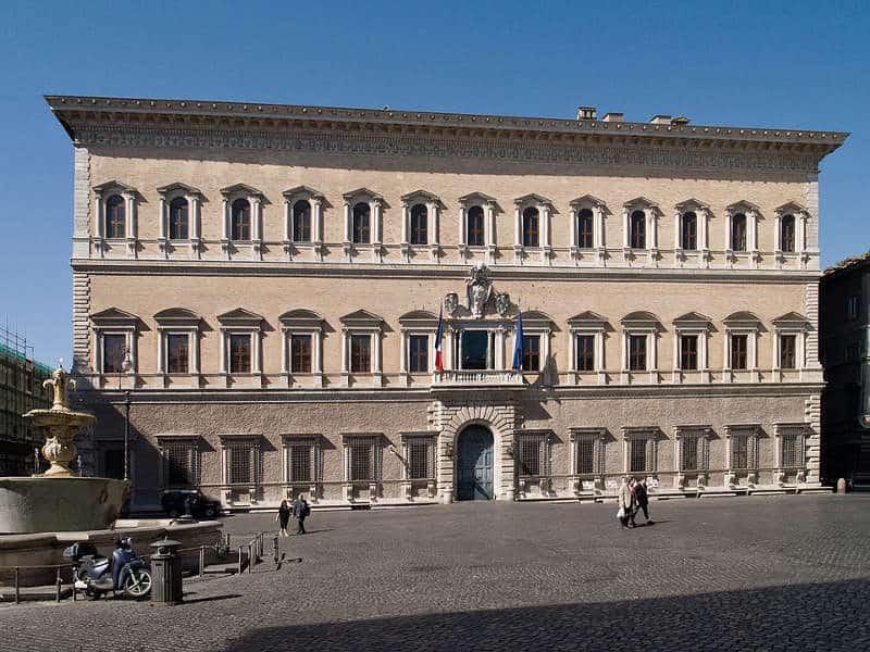 Renesansowy pałac w Rzymie