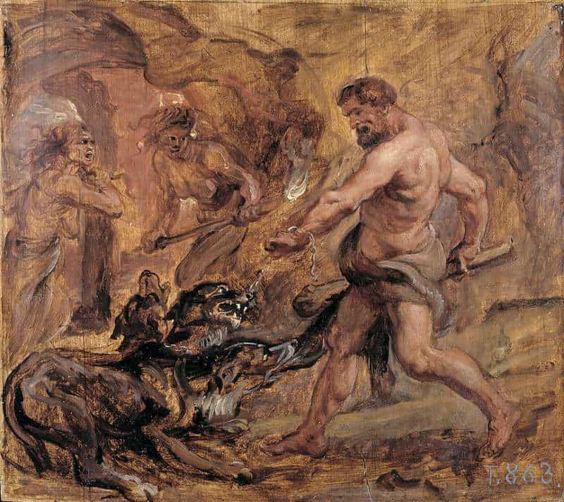 cerber walczy z herkulesem
