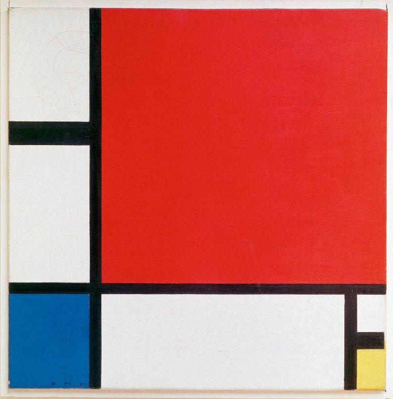 Kompozycja w czerwieni, błękicie i żółcieni - Piet Mondrian
