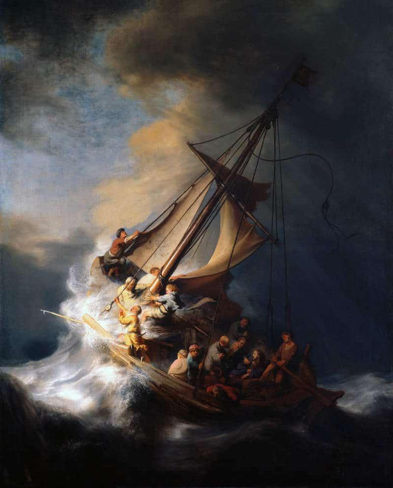 znane obrazy: Burza na Jeziorze Galilejskim