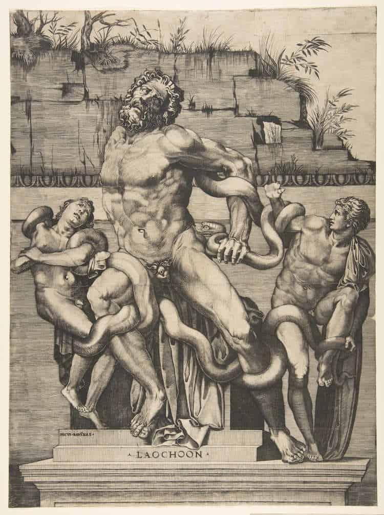 Marco Dente, Laokoon i synowie atakowani przez węże