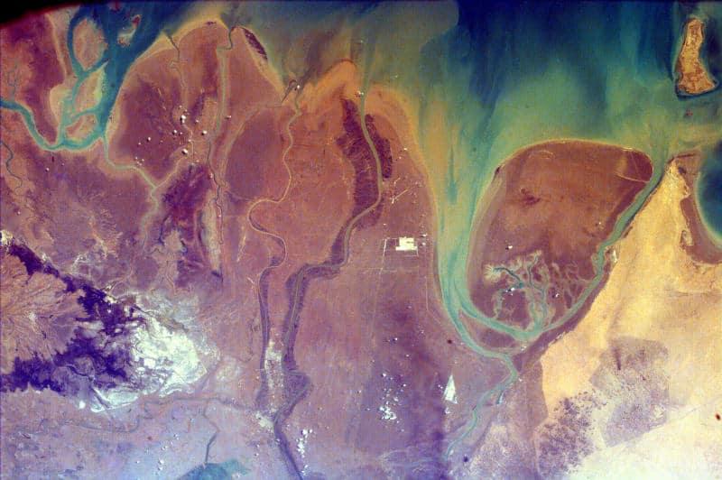 dorzecze tygrysu i eufratu z kosmosu