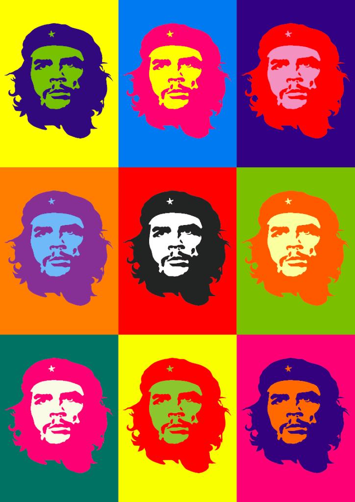 Barwy dopełniające na przykładzie obrazu Che Guevara Andy'ego Warhola