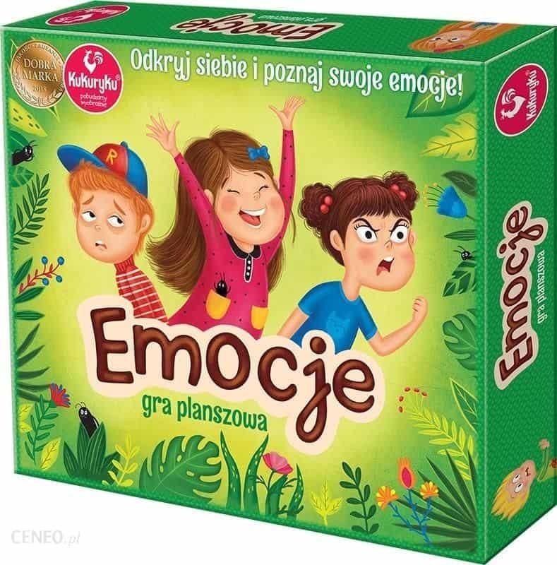 gry planszowe dla dzieci ranking 2021 : kukuryku emocje