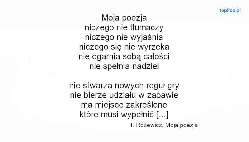 Rodzaje wierszy - przykład wiersza białego