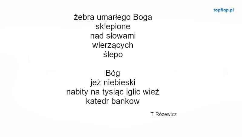 Przykład wierswza wolnego