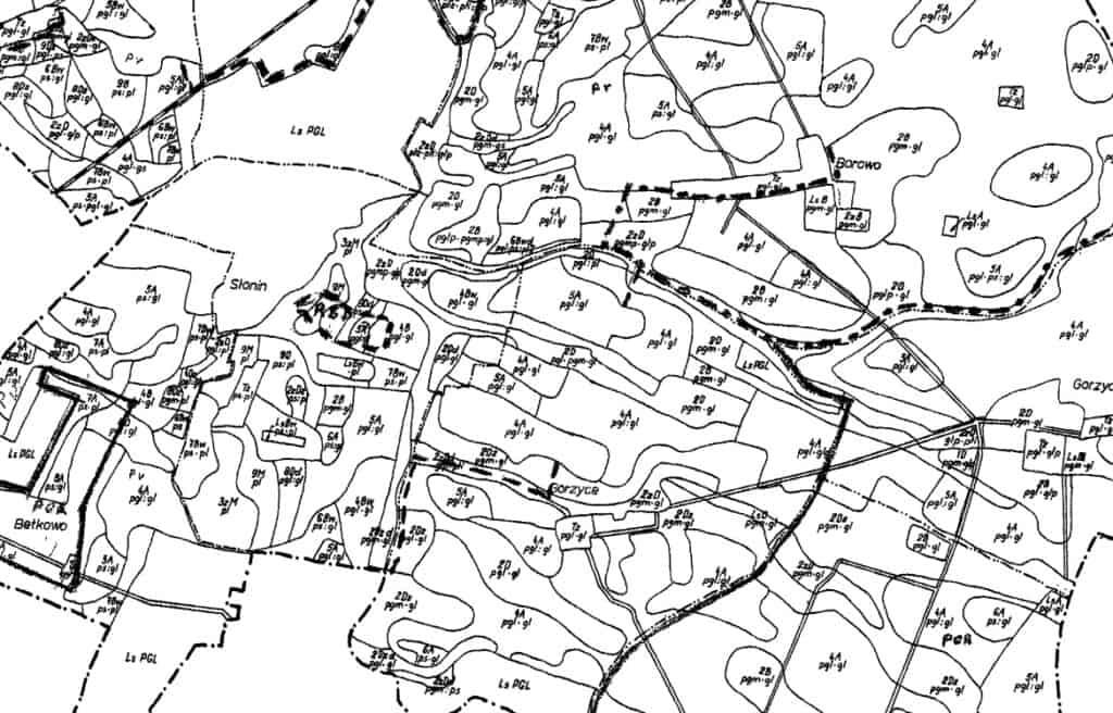 Rodzaje map: Mapa tematyczna - mapa glebowo-rolnicza