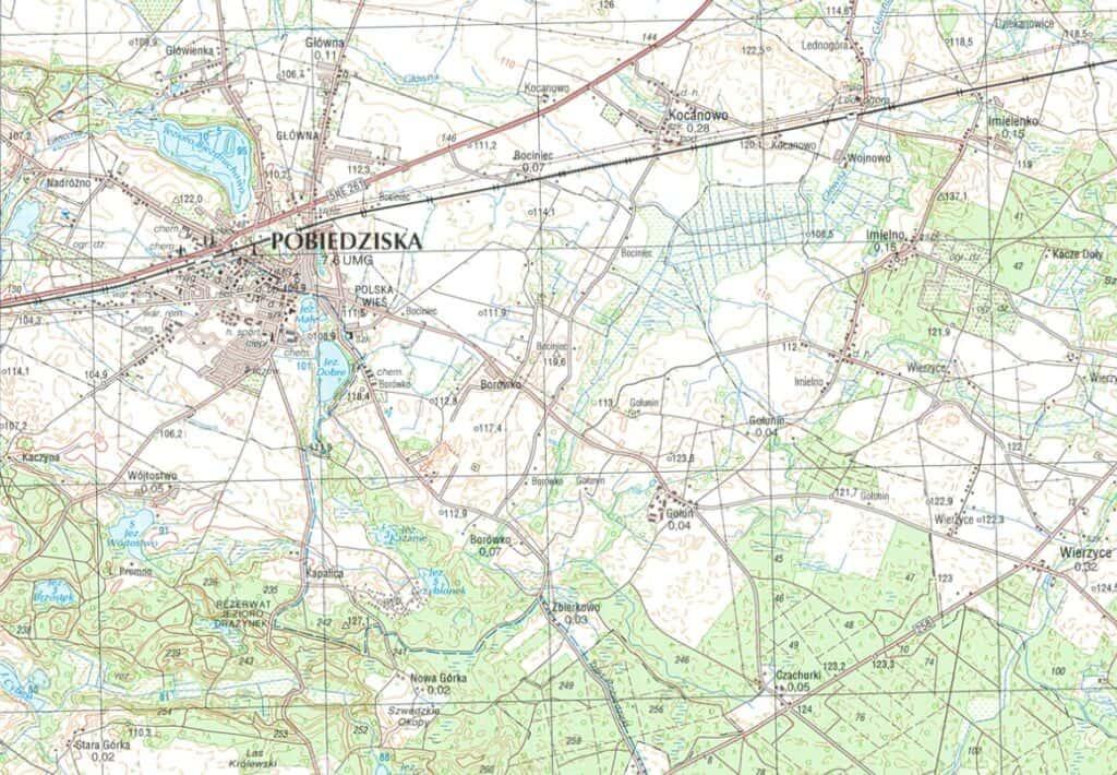 rodzaje map - mapa topograficzna